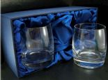 Curved Whisky Glasses PAIR Personalised Engraved, ref CWP03